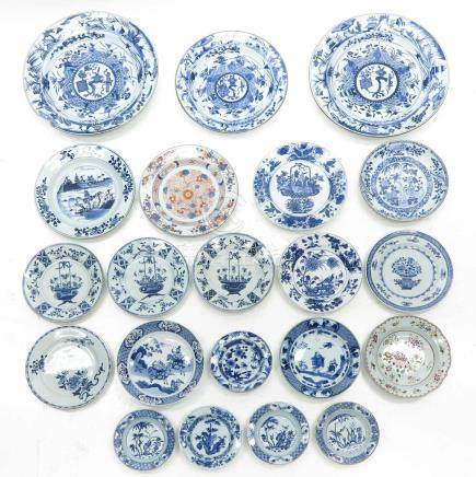 A Diverse lot of Blue and White Decor Plates