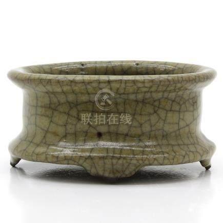 A Celadon Crackleware Decor Censer