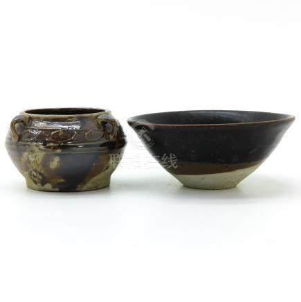 A Tea Bowl and Small Censer