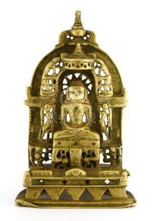 An Indian copper-alloy Jainism tirthankara shrine