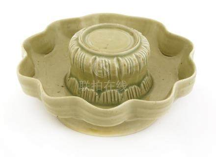 A Chinese qingbai ware cup stand