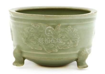 A Chinese Longquan celadon censer