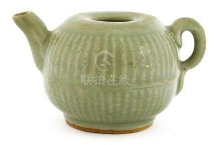 A Chinese Longquan celadon teapot