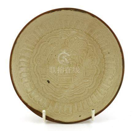 A Chinese Ding ware dish