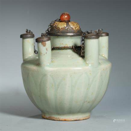 A Rare Chinese Longquan Celadon-glazed Jar