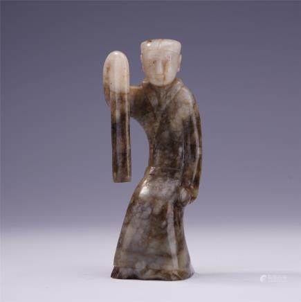 A Chinese Archaistic Jade Carved Figure