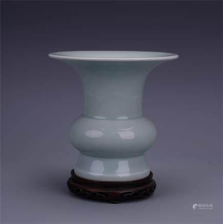 A Chinese Celadon-glazed  Gu Vase