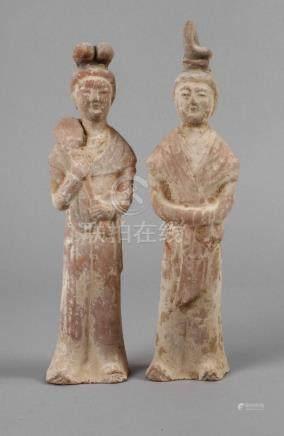 Zwei Terrakotta Figuren