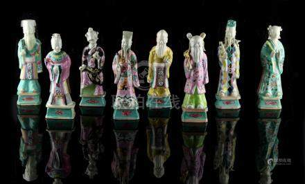 Property of a gentleman - a set of eight Chinese famille rose figures of the Eight Immortals, late