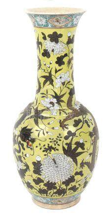 Property of a lady - a late 19th / early 20th century Chinese crackle glazed bottle vase with flared