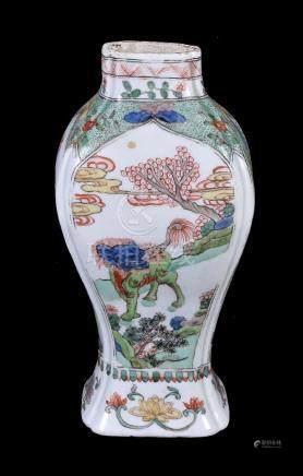 A Chinese Famille Verte vase