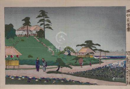 Kobayashi KIYOCHIKA (1847-1915)Farbholzschnitt, 23,7 cm x 34,4 cm, datiert Meiji 12/1879Kobayashi