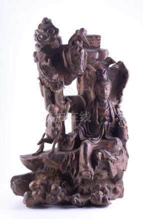 Holzschnitzerei China 19. Jhd.Wurzelholz, H: ca. 50 cmProvenienz: Alte bedeutende Berliner