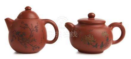 TWO CHINESE YIXING BIBLICAL TEAPOTS YU TAO (BORN 1971 ), CIR