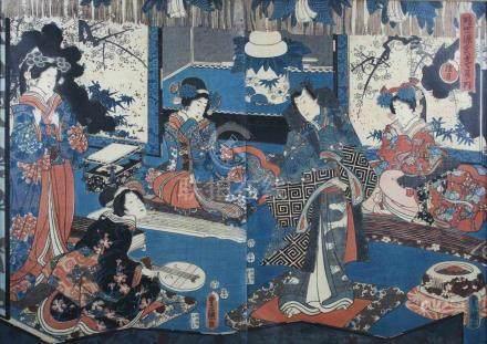 Utagawa Kunisada, auch bekannt als Utagawa Toyokuni III (japanisch, 1786-1865), Prinz Genji im