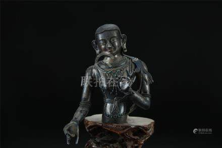 19th C. Chinese sterling silver Buddha figure