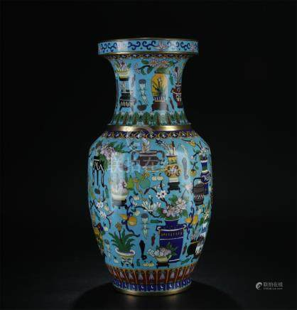 Late 19/20th C. cloisonne large vase