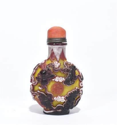 A Fine Glass Snuff Bottle
