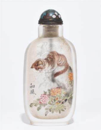 A Fine 'Animal' Glass Snuff Bottle