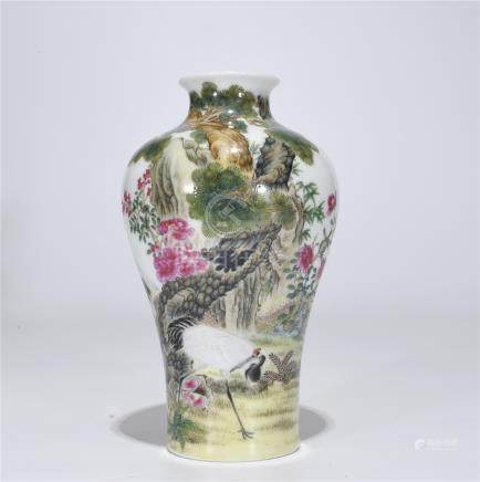 A Yongzheng Marked Falangcai Vase
