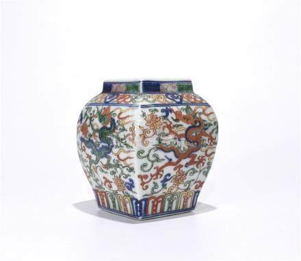 A Wanli Marked Doucai 'Dragon' Jar