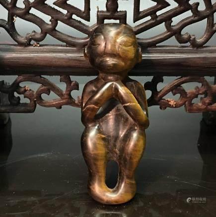 Chinese Hongshan Jade Figure