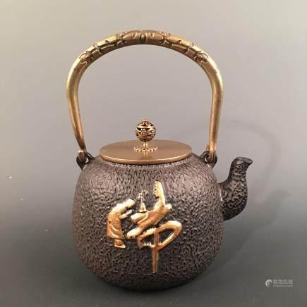 Chinese Iron 'Buddha' Teapot