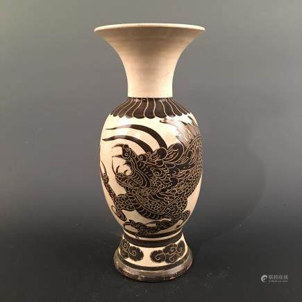 Chinese Cizhou Kiln 'Dragon' Vase