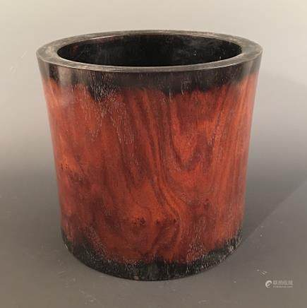 Chinese Rosewood Brush Pot