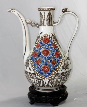 Chinese Yuan Dynasty Ewer with Long Spout