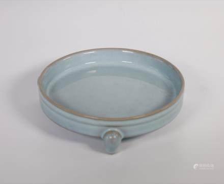 Chinese Song Dynasty RuYao Skyblue Trilegged Penbrush Wash