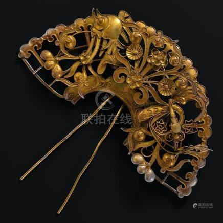 A Gilt-Silver 'Phoenix' Hairpin / Liao Dynasty