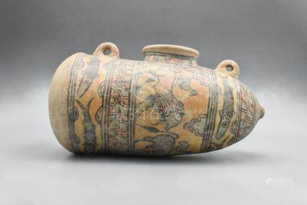 RARE INDUS VALLEY PAINTED VESSEL WITH ANIMALS