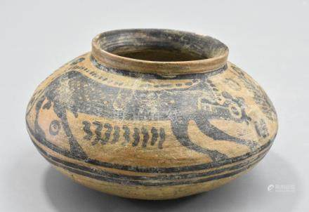 INDUS VALLEY PAINTED VESSEL WITH MONKEYS