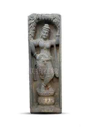 LARGE SCHIST GANDHARA BUDDHA STATUE