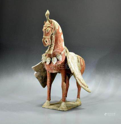 CHINESE DECORATED NORTHERN WEI TERRACOTTA HORSE - TL TESTED