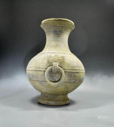 LARGE CHINESE HAN DYNASTY POT WITH LID- TL TESETED