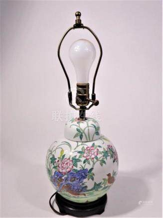 Chinese Ginger Jar Made into a Lamp