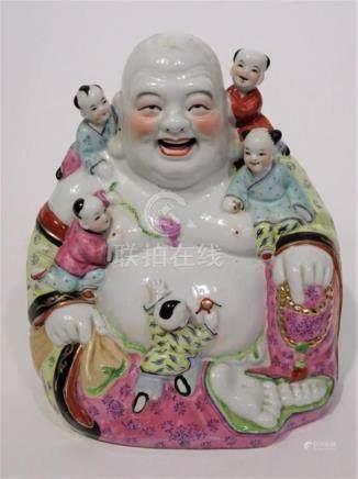 Chinese Impressive Republican Period Happy Buddha