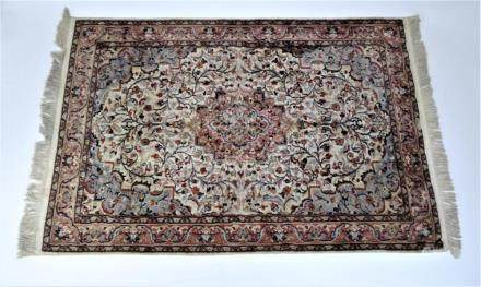 Signed Chinese Silk Rug