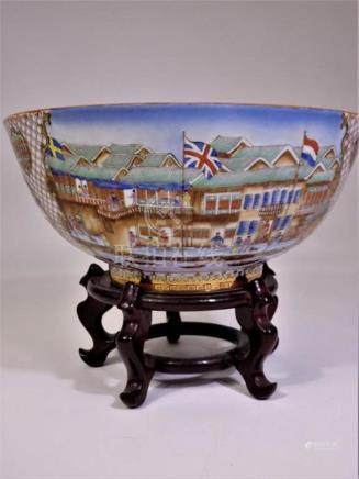 Finely Enameled Chinese Porcelain Bowl