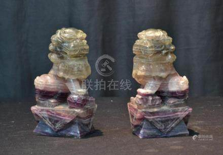 (Pr) RAINBOW QUARTZ FOO DOGS