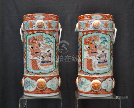 (Pr) CHINESE PORCELAIN HAT STANDS