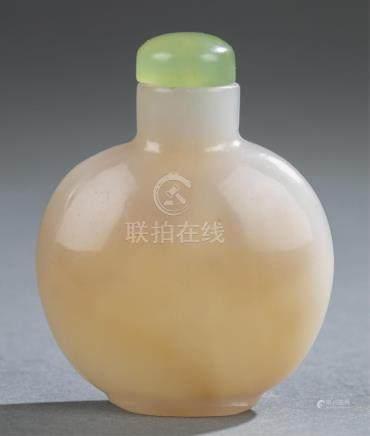 Glass snuff bottle.