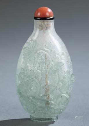 Peking glass snuff bottle.