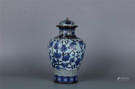 A CHINESE CLOISONNÉ JAR, MING DYNASTY