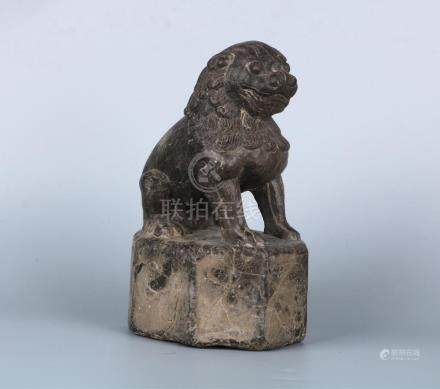A CHINESE STONE LION, SONG DYNASTY