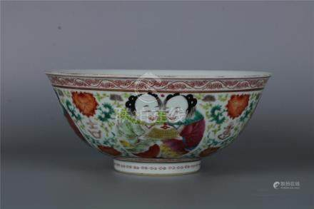 A CHINESE FAMILLE ROSE BOWL MARK AND OF THE PERIOD JIAJING,