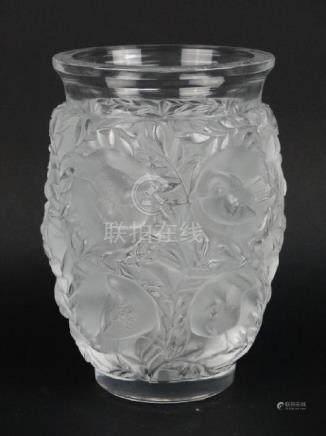 Lalique Crystal Bagatelle Bird Vase