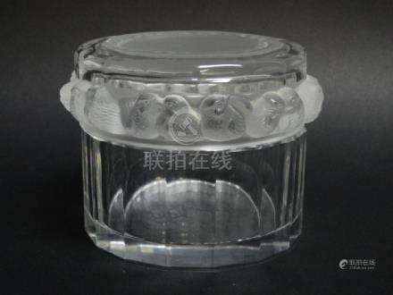 Lalique Crystal Sparrow Powder Jar
